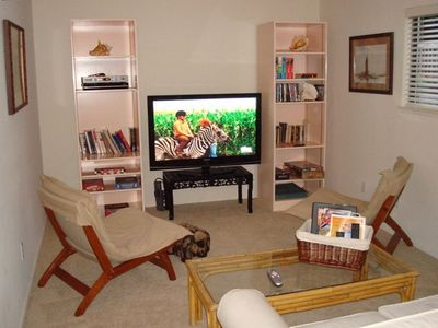 50 Inch HD TV, DCD, Cable and DVD Library.