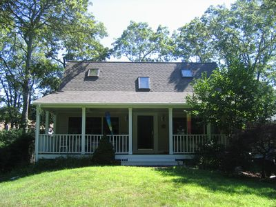 Plymouth house rental - House nestled in tree-shaded lot