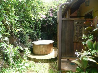 Tub and Enclosed Outdoor Shower