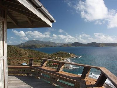 Views looking into Coral Bay. Tortola (BVI) is in the background