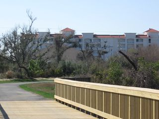 Orange Beach condo photo - New Gulf State Park Trail Enterance Immediately Across from Palm Beach Condos!