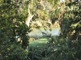 Bald Head Island condo photo - golf course lagoon view off the living room deck