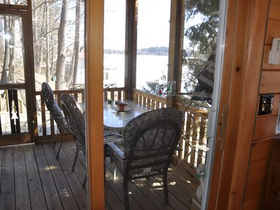 Screened Porch Off Reading Room.