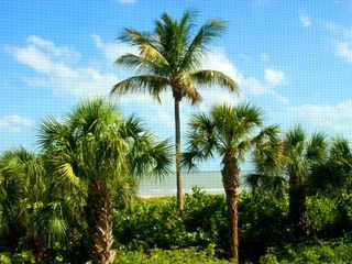 Sanibel Island condo photo - Beach Front View from Lanai.