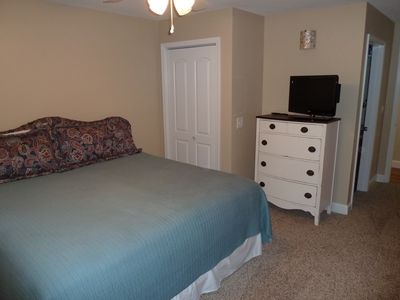"2nd bedroom with king bed and 26"" flat screen TV/DVD combo."