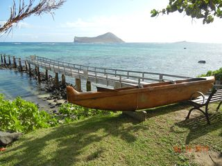 Waimanalo house photo - Pier that is in front of the property. Beach and ocean just steps away!