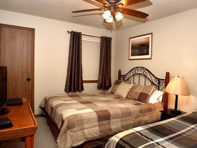 "Second bedroom has a full and twin bed, a 32"" TV and DVD player."