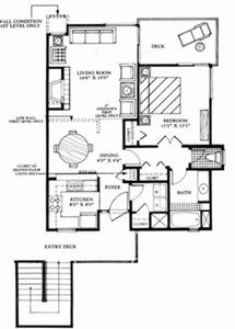 Spacious floorplan for 1 BDRM villa