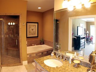 Thomas Drive Area house photo - 2nd flr Master bdrm private bath area - step-in shower, jacuzzi tub, dbl vanity