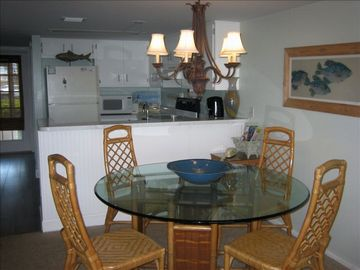 Dining room and kitchen (large table seats 6 comfortably)