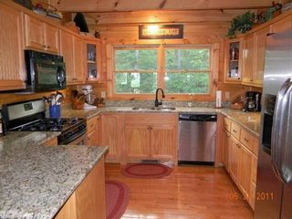 Morganton cabin photo - Full kitchen.