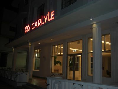 The Carlyle 1250 Ocean Drive at night