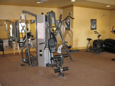 Complete workout center on the lower level ~guests can access 24 hours a day!