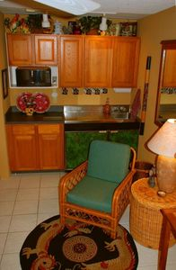 Kitchenette on Studio side microwave, refrigerator sink etc