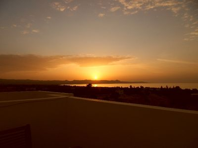 Polis & Latchi Area apartment rental - Sunset from our roof terrace
