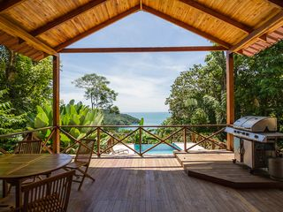 Manuel Antonio house photo - Our 400 sq.ft. covered deck, just above our pool deck