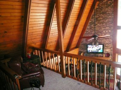 Prior Lake house rental - Birds eye view from loft area - Relaxing sitting or reading area