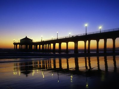Manhattan Beach Pier is a few blocks away!