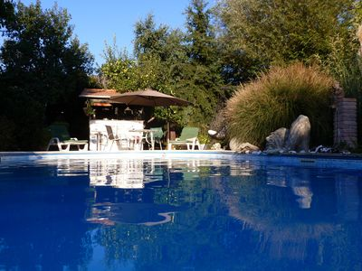 Luxurious holiday home with heated pool, 10 minutes drive from Lake Balaton