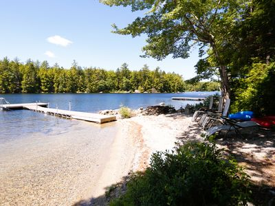 Private Beach with chairs, kayaks, canoe, paddle boats, and paddle board!