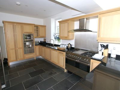 Kitchen with inbuilt coffee maker