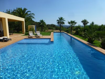 An Amazing Villa With Nice Sea Views of Ibiza Old Town and Port and Mountains
