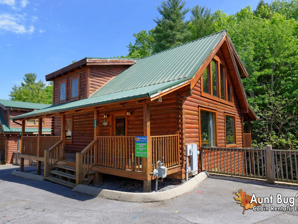 Pigeon forge resort cabin whispering creek 302 vrbo for 10 bedroom cabins in tennessee