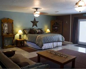 McAllen house photo - Big bedroom with king size bed plus a futon. Pool access & privacy. Frig & micro