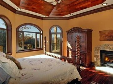 2 Master Bedroom lower level with similar great view toward mountains.