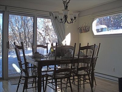 Dining Area With View Of Ski Mountain