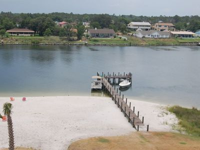 Private beach & dock for fishing and boating