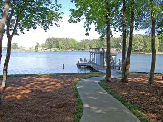 Lake Gaston house photo - short walk to the dock - level lot!