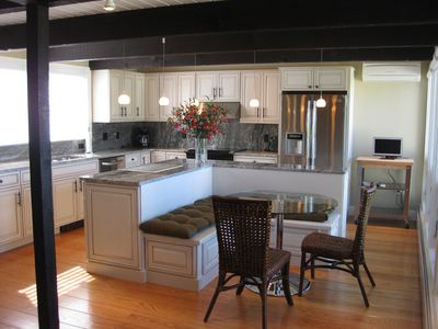 Williamstown house rental - Brand new eat-in gourmet kitchen also boasts an incredible view
