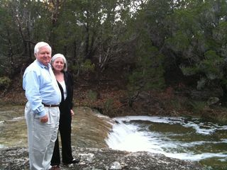 Dripping Springs house photo - David & Patricia admiring the creek after a good rain.