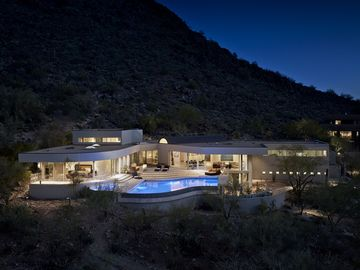 Paradise Valley house rental - Aerial View of Back of Home