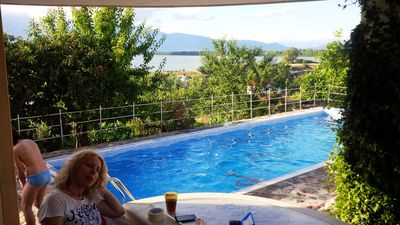 Cottage With View To Lake Kerkini and heated swimming pool