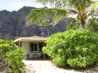 Kaaawa house photo - House from the Beach with Kualoa Ranch behind