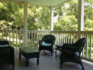 Warm Springs house photo - Lower back porch.