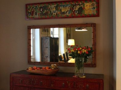 Buffet Chest and Mirror in Dining Room Area