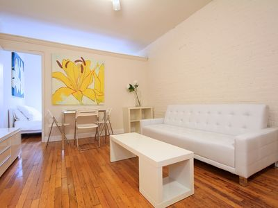 Upper East Side condo rental - Living room (couch folds out into a queen size bed)