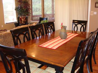 Branson house photo - Large Dining table with extra seats at breakfast bar