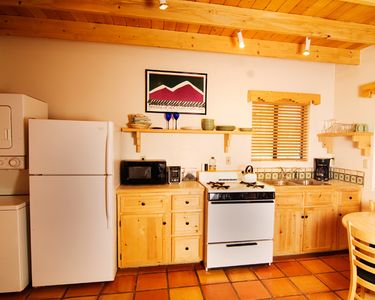 Each casita has a full kitchen.