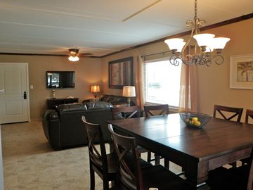 Our open floor plan is great for family gatherings.