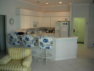 East Naples house photo - Kitchen with bar counter as well as dining table (not in view)