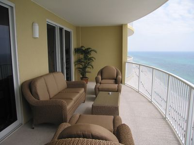 300 Square Feet Balcony facing the ocean Accessible from Master bedroom & Living