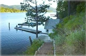 Steps from house to private dock
