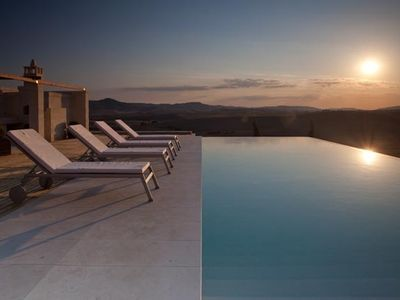 Infinity swimming pool with breathtaking views