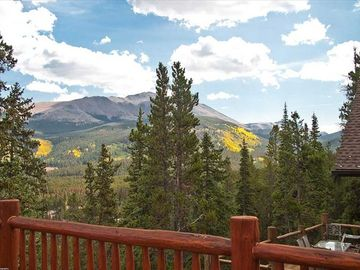 Deck view of Mount Baldy