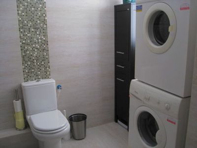 Netanya apartment rental - Washer & dryer