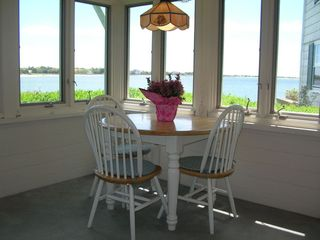 West Yarmouth house photo - Sun Room Dining Area with expandable Table